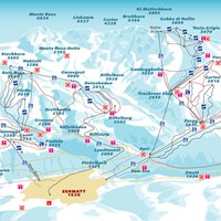 Схема трасс в Церматте (Валлис)