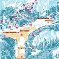 Схема трасс в Гармише и Партенкирхене (Баварские Альпы)