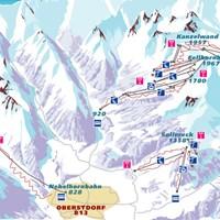 Схема трасс в Оберстдорфе (Баварские Альпы)