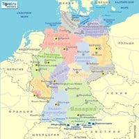 Карта горнолыжных курортов Германии