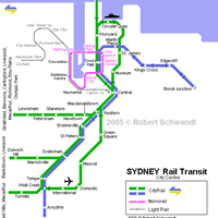 Схема сиднейского метрополитена