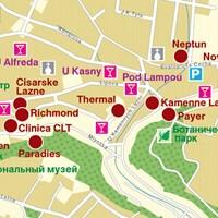 Карта курорта Теплице