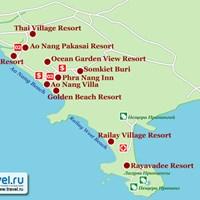 Карта курорта Краби