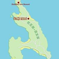 Карта курорта Пхипхи-Дон