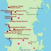 Карта курорта Пхукет