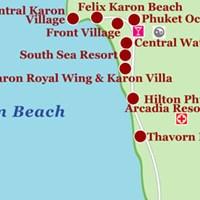 Карта района Карон (остров Пхукет)