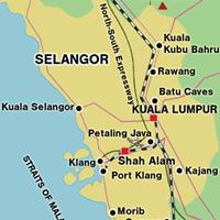 Карта штата Селангор