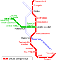 Схема метро в Тбилиси