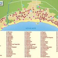Карта курорта Солнечный Берег