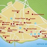 Карта курорта Св. Константин и Елена
