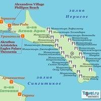 Карта полуострова Агион-Арос