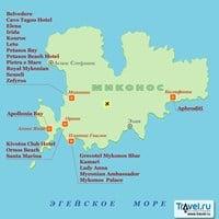 Карта острова Миконос
