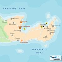 Карта курорта Лассити (остров Крит)