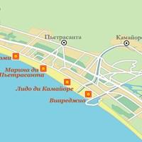 Карта курортов Генуэзского залива (Лигурия)