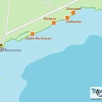 Карта курортов Венецианской Ривьеры
