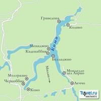 Карта курортов на озере Комо