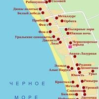 Карта курорта Джемете