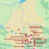 Карта курорта Кисловодск