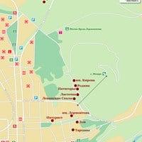 Карта курорта Пятигорск