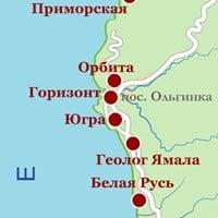 Карта курорта Туапсе