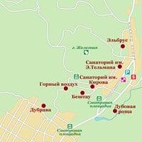 Карта курорта Железноводск
