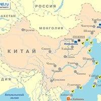 Карта курортов Китая