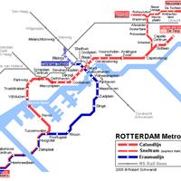 Схема роттердамского метрополитена