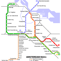 Схема амстердамского метрополитена