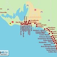 Карта курорта Ларнака