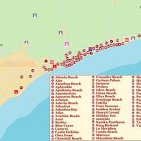 Карта курорта Лимассол