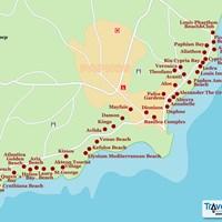 Карта курорта Пафос