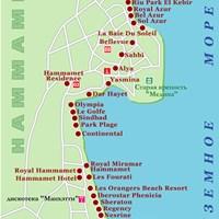 Карта курорта Хаммамет