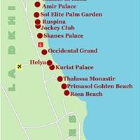 Карта курорта Монастир