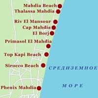 Карта курорта Махдия