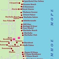 Карта курорта Сус