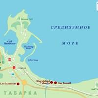 Карта курорта Табарка