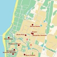 Карта курорта Паланга