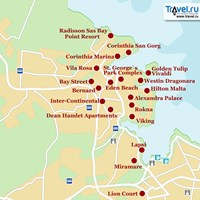 Карта курорта Сент-Джулиан
