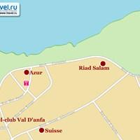 Карта западной части курорта Касабланка