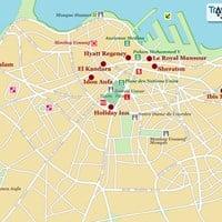 Карта курорта Касабланка