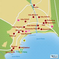 Карта курорта Будва