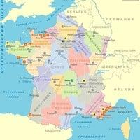 Карта курортов Франции