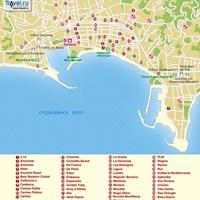Карта курорта Канны