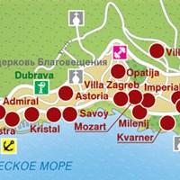 Карта курорта Опатия