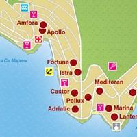 Карта курорта Рабац