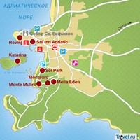 Карта курорта Ровинь