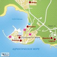 Карта курорта Новиград