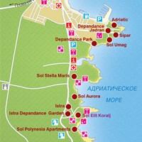 Карта курорта Умаг