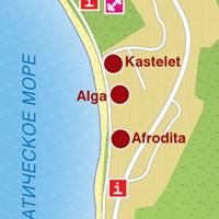Карта курорта Тучепи
