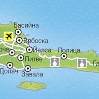 Карта курортов острова Хвар
